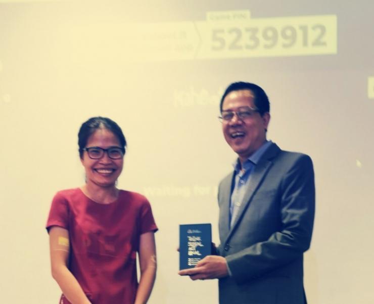 Meeting students at Hoa Sen University